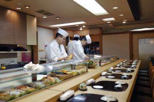 寿司清の昼、貝と光り物をひと通り